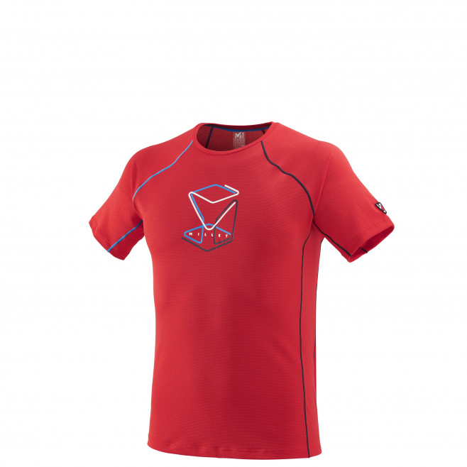 Tee-Shirt manches courtes homme - alpinisme - rouge TRILOGY DELTA CUBE TS SS Millet