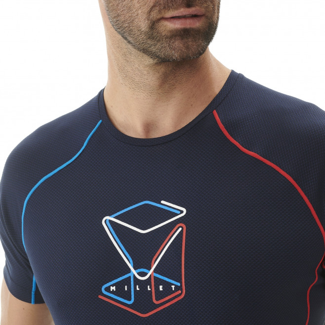 Tee-Shirt manches courtes homme - alpinisme - marine TRILOGY DELTA CUBE TS SS Millet 3
