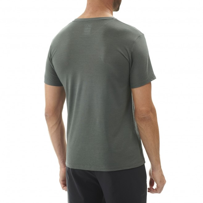 Tee-Shirt manches courtes homme - randonnée - gris SEVAN WOOL TS SS Millet 3