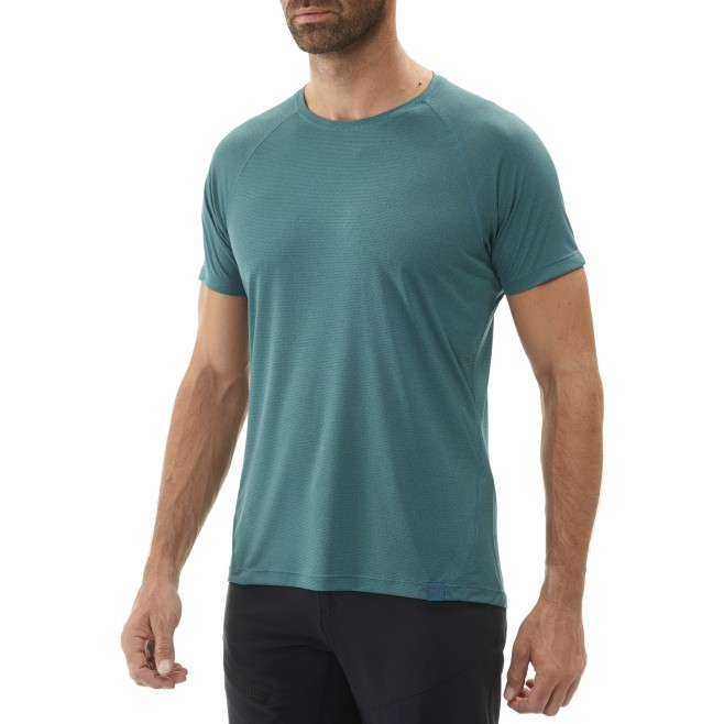 Tee-Shirt manches courtes homme - randonnée - vert ISEO TS SS Millet 2