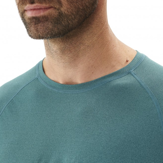 Tee-Shirt manches courtes homme - randonnée - vert ISEO TS SS Millet 4