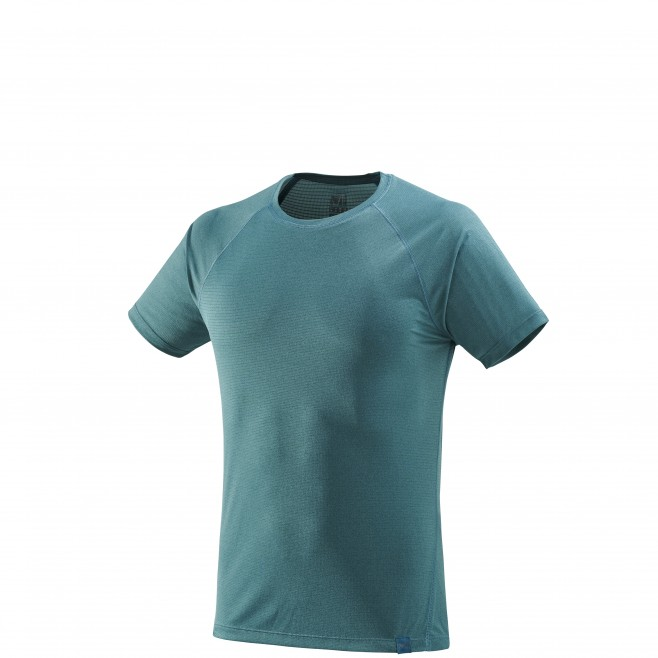 Tee-Shirt manches courtes homme - randonnée - vert ISEO TS SS Millet