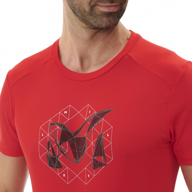 Tee-Shirt - Homme - rouge M LOGO 2 TS SS M Millet 4