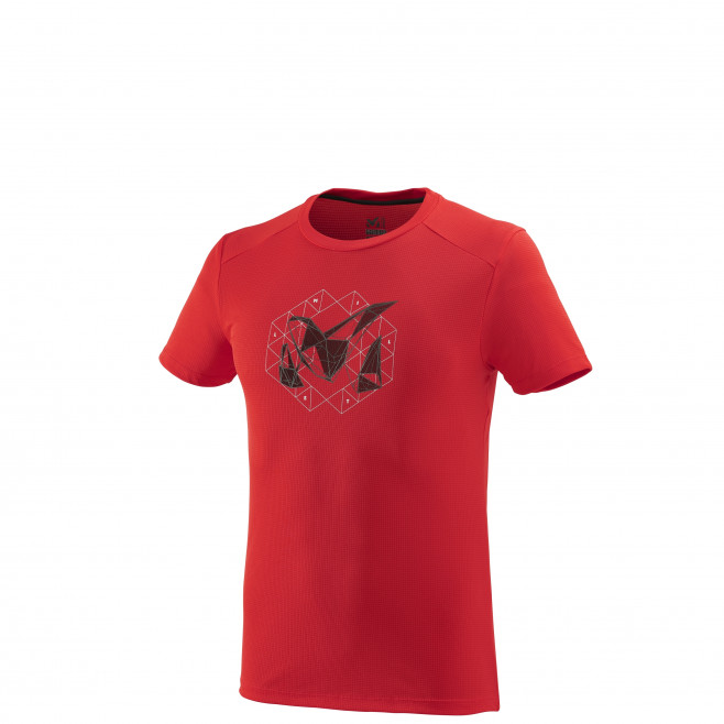 Tee-Shirt manches courtes homme - alpinisme - rouge M Logo 2 Ts Ss Red - Rouge Millet