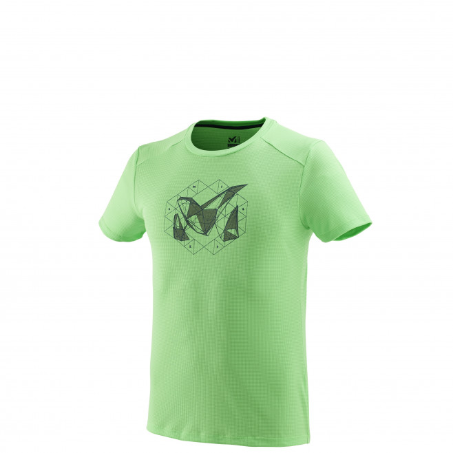 Tee-Shirt manches courtes homme - alpinisme - vert M Logo 2 Ts Ss Flash Green Millet