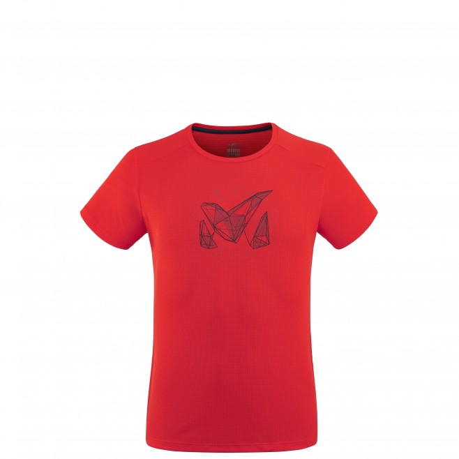 Tee-Shirt - Homme - rouge M LOGO 2 TS SS M Millet