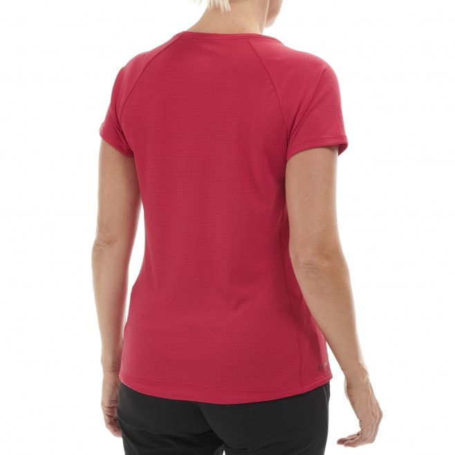 Tee-Shirt manches courtes femme - alpinisme - rose LD ROC TS SS Millet 3