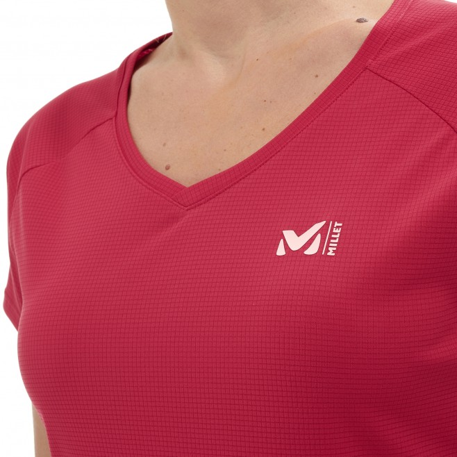 Tee-Shirt manches courtes femme - alpinisme - rose LD ROC TS SS Millet 4