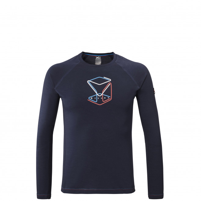 Tee-shirt manches longues - homme - bleu marine TRILOGY WOOL CUBE TS LS M Millet