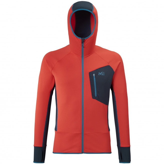 Micro polaire - homme - rouge RUTOR THERMAL HOODIE M  Millet