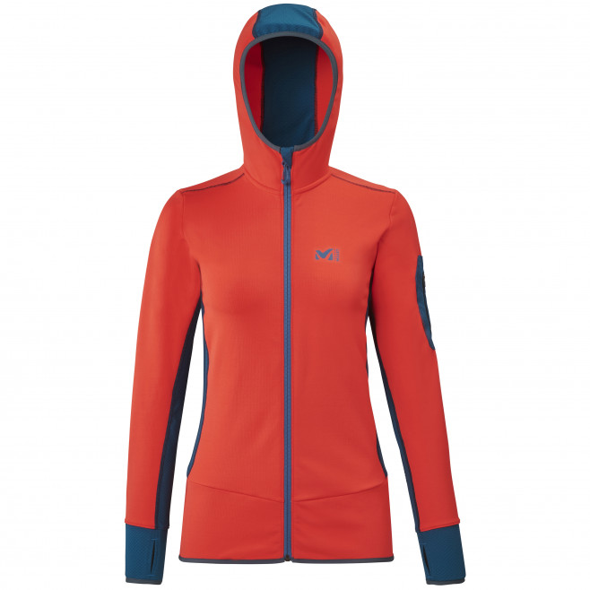 Micro polaire - femme - rouge RUTOR THERMAL HOODIE W  Millet