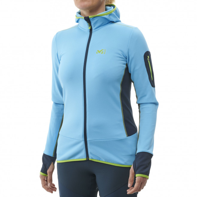 Micro polaire - femme - bleu RUTOR THERMAL HOODIE W  Millet 2