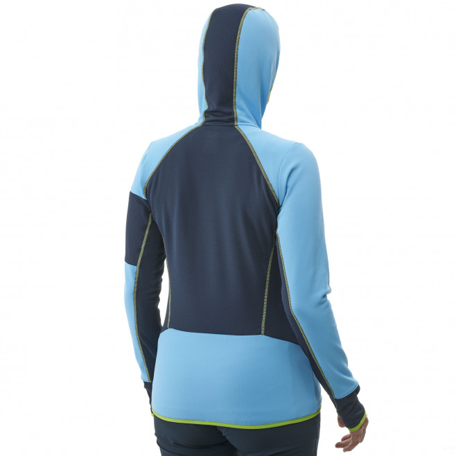 Micro polaire - femme - bleu RUTOR THERMAL HOODIE W  Millet 3