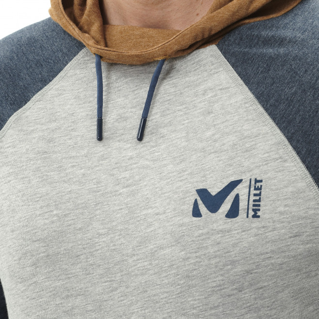 Tee-shirt manches longues - homme - gris RED WALL LIGHT HOODIE M Millet 4