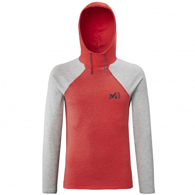 Tee-shirt manches longues - homme - rouge RED WALL LIGHT HOODIE M Millet