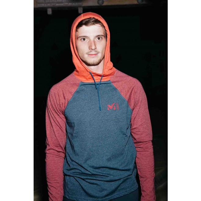 Teeshirt  - Homme  - bleu marine RED WALL LIGHT HOODIE M Millet 2