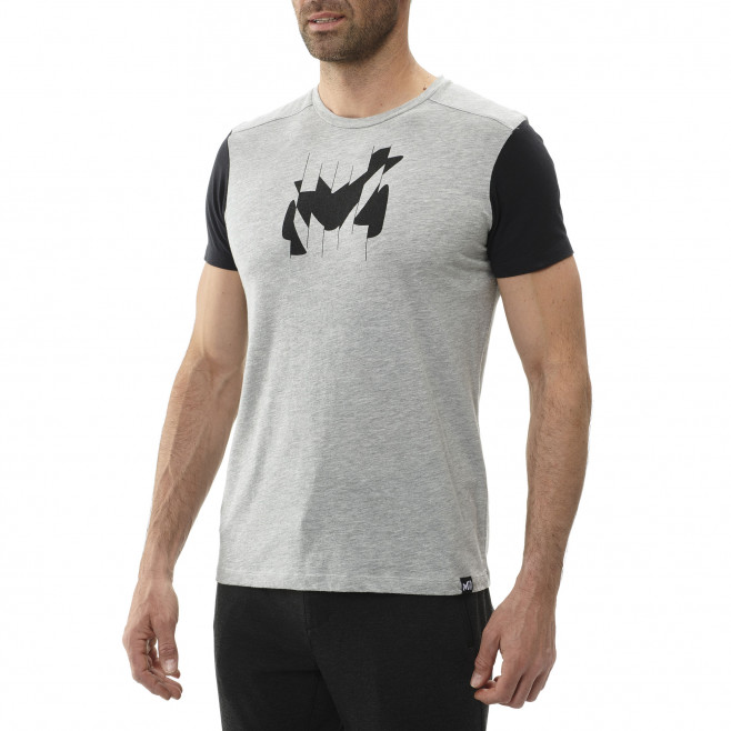 Tee-shirt manches courtes - homme - rouge BROKEN LOGO TS SS M Millet 2