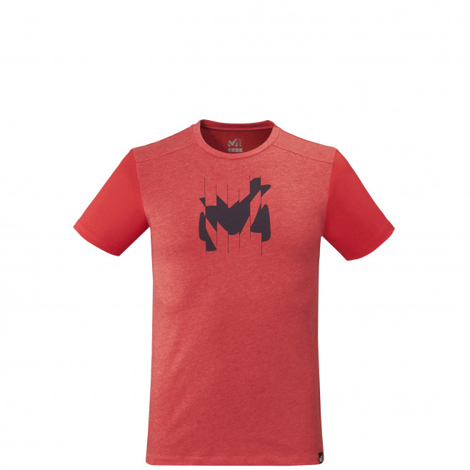Tee-shirt manches courtes - homme - rouge BROKEN LOGO TS SS M Millet