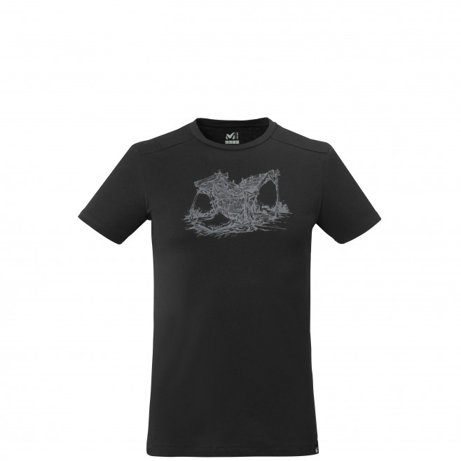 Tee-shirt manches courtes - homme - noir WOOD WALL TS SS M Millet