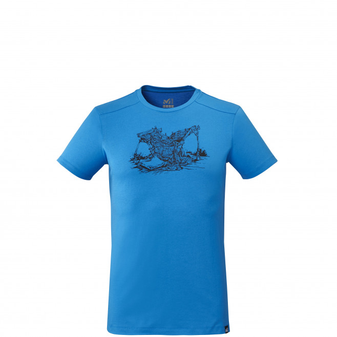 Tee-shirt manches courtes - homme - bleu WOOD WALL TS SS M Millet