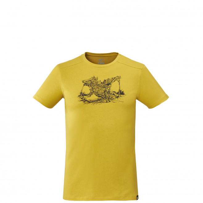 Tee-shirt manches courtes - homme - jaune WOOD WALL TS SS M Millet