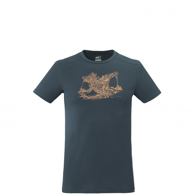 Tee-shirt manches courtes - homme - bleu marine WOOD WALL TS SS M Millet