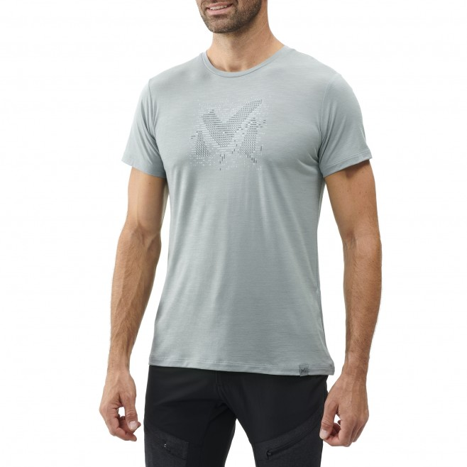 Tee-Shirt manches courtes - Homme - Gris DENSITY WOOL TS SS M Millet 2