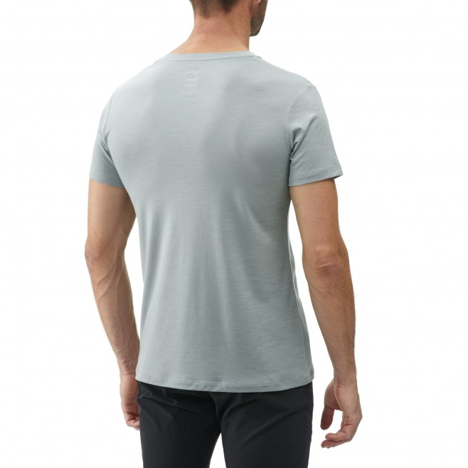 Tee-Shirt manches courtes - Homme - Gris DENSITY WOOL TS SS M Millet 3