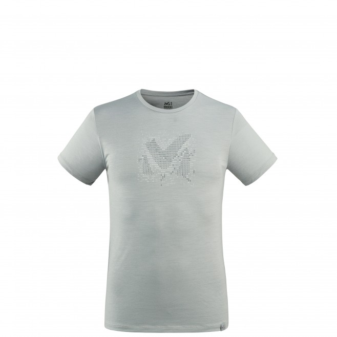 Tee-Shirt manches courtes - Homme - Gris DENSITY WOOL TS SS M Millet