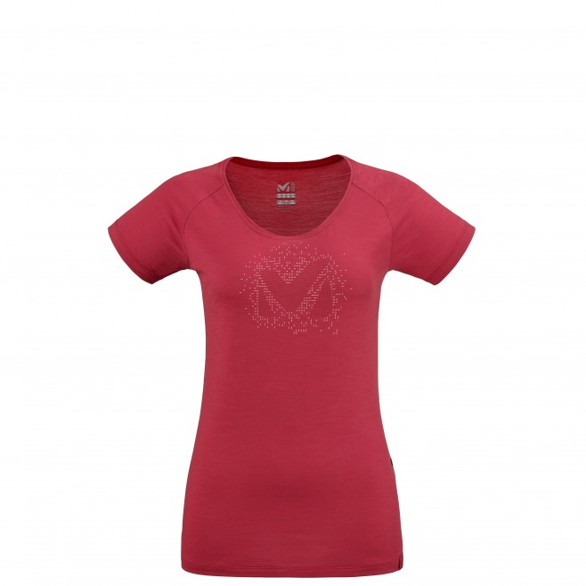 Tee-Shirt manches courtes - Femme - Rouge DENSITY TS SS W Millet