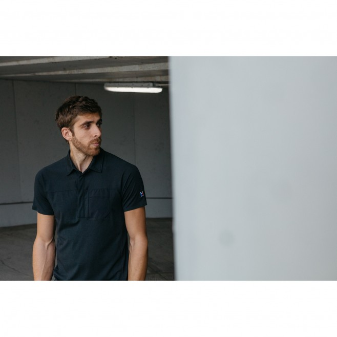 Polo - Homme - Noir TRILOGY SIGN WOOL POLO M Millet 2
