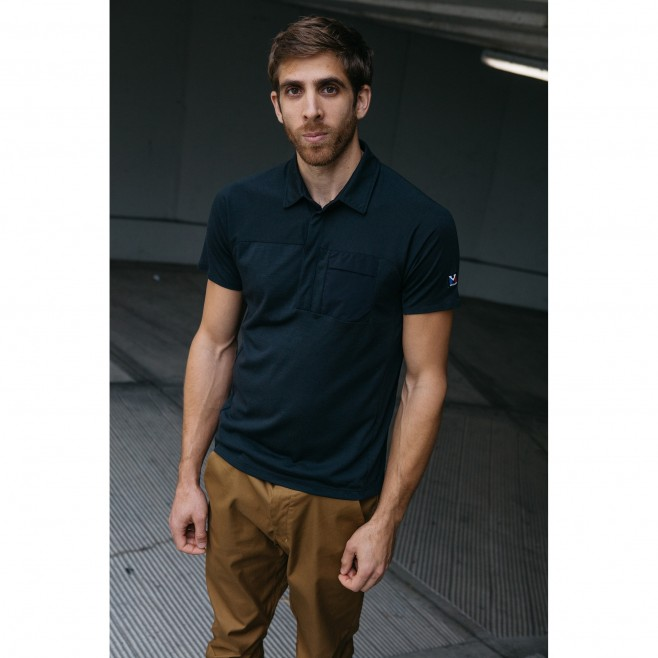 Polo - Homme - Noir TRILOGY SIGN WOOL POLO M Millet 3