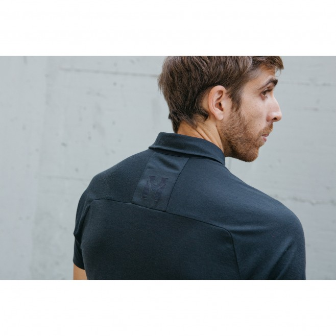 Polo - Homme - Noir TRILOGY SIGN WOOL POLO M Millet 4