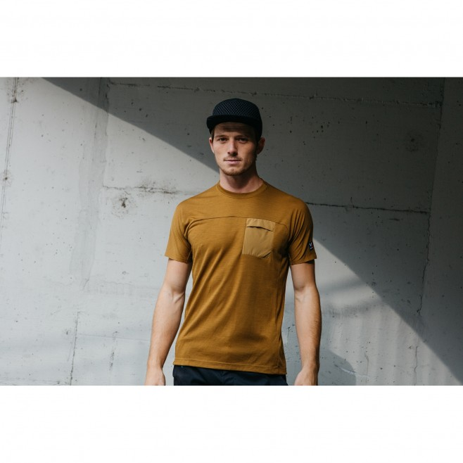 Tee-Shirt - Homme - marron TRILOGY SIGNATURE WOOL TS SS M Millet 3