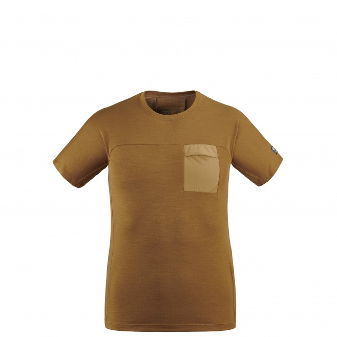 Tee-Shirt - Homme - marron TRILOGY SIGNATURE WOOL TS SS M Millet
