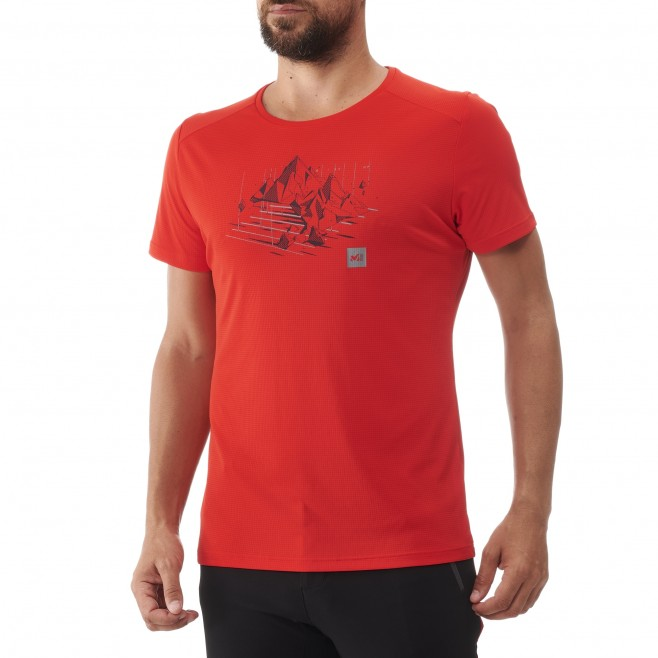 Tee-Shirt manches courtes - Homme - Rouge BLACK MOUNTAIN TS SS M Millet 2