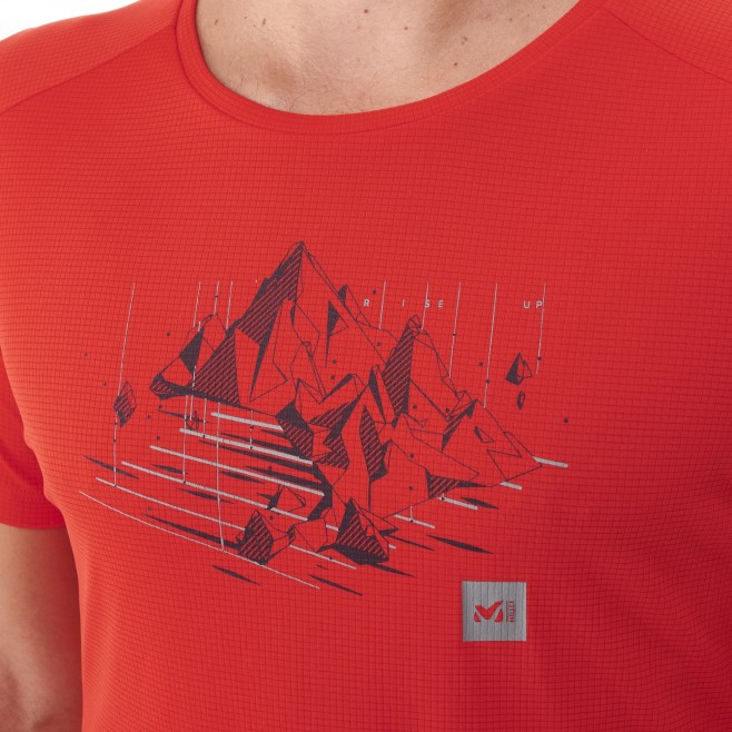 Tee-Shirt manches courtes - Homme - Rouge BLACK MOUNTAIN TS SS M Millet 4