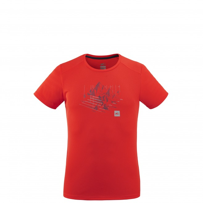 Tee-Shirt manches courtes - Homme - Rouge BLACK MOUNTAIN TS SS M Millet