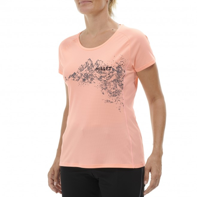 Tee-Shirt - Femme - rose WHITE MOUNTAIN TS SS W Millet 2