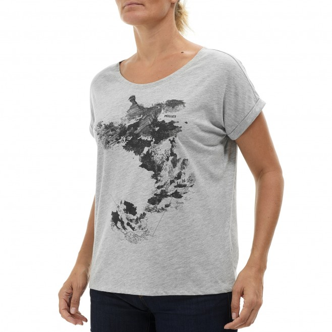 Tee-Shirt - Femme - gris ANGEL LIMITED TS SS W Millet 2