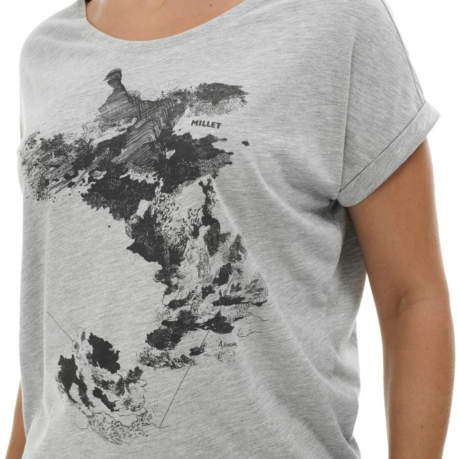 Tee-Shirt - Femme - gris ANGEL LIMITED TS SS W Millet 4
