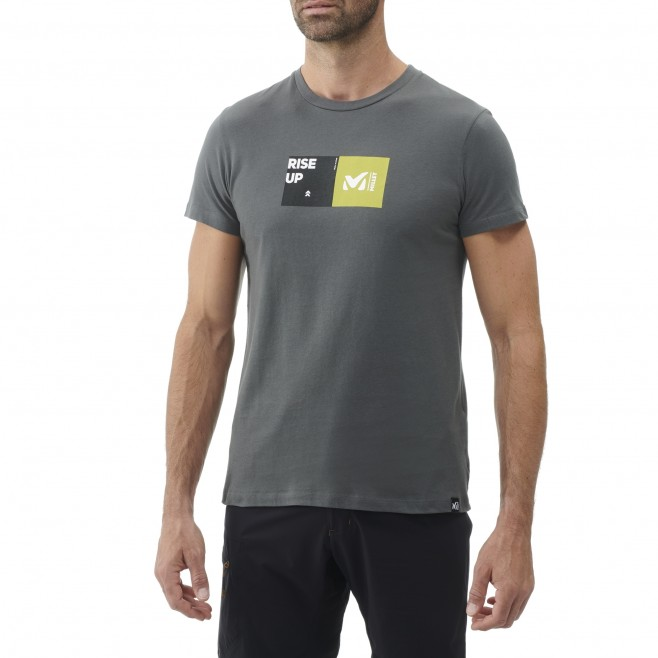 Tee-Shirt manches courtes - Homme - Kaki MILLET SQUARE TS SS M Millet 2