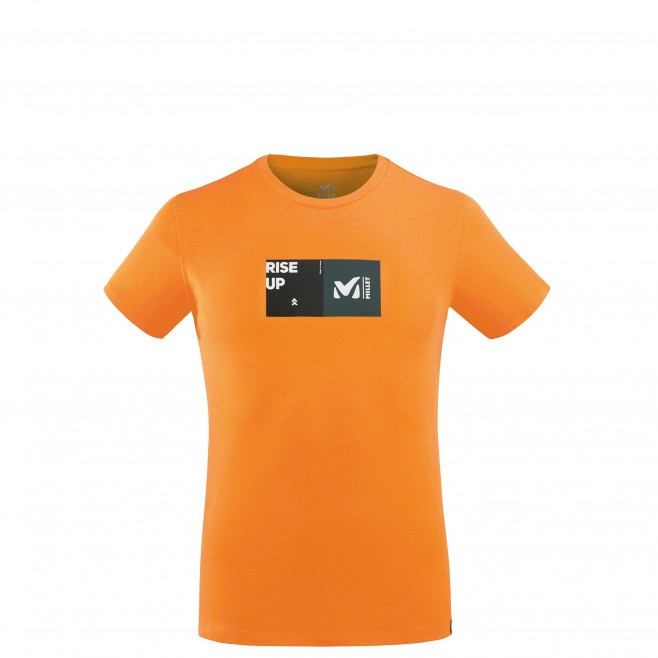 Tee-Shirt manches courtes - Homme - Orange MILLET SQUARE TS SS M Millet