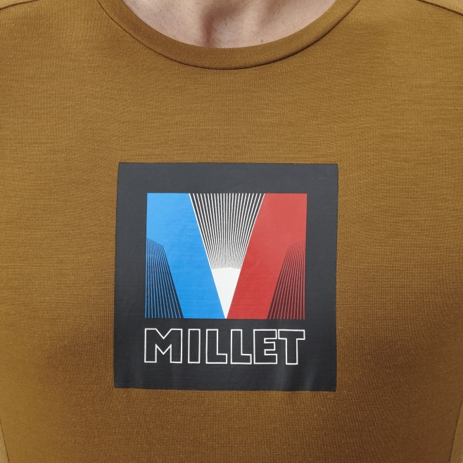Tee-Shirt - Homme - marron TRILOGY SIGNATURE LOGO V TS SS M Millet 4