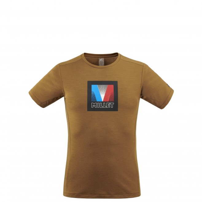 Tee-Shirt - Homme - marron TRILOGY SIGNATURE LOGO V TS SS M Millet