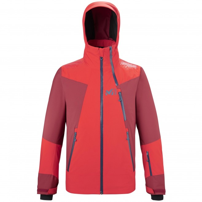 Veste imperméable  - Homme  - rouge ALAGNA STRETCH JKT M Millet