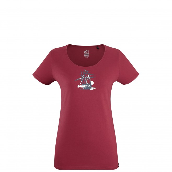 Tee-Shirt manches courtes - Femme - Rouge FLOWER TOOLS TS SS W Millet