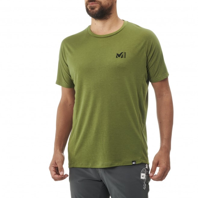Tee-Shirt manches courtes - Homme - Kaki UNIT LYOCELL TS SS M Millet 2