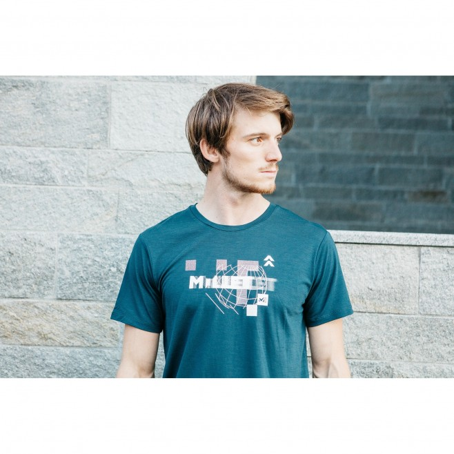 Tee-Shirt manches courtes - Homme - Gris PREDICT WOOL TS SS M Millet 4