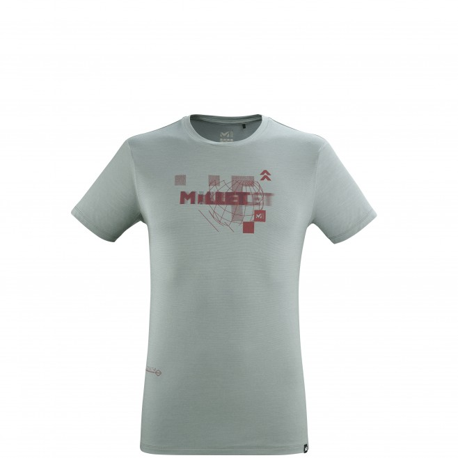 Tee-Shirt manches courtes - Homme - Gris PREDICT WOOL TS SS M Millet